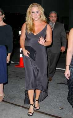 Amy Schumer from The Big Picture: Today's Hot Pics The Emmy nominee heads to Narciso Rodriguez's runway show as part of New York Fashion Week. Amy Shumer, Last Comic Standing, Emmy Nominees, Stand Up Comedians, Sleek Look, Celebs, Celebrities, Big Picture, Hottest Photos