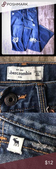 Abercrombie Jeans Kids Abercrombie jeans. Distressed. Flared. Very little wear. abercrombie kids Bottoms Jeans