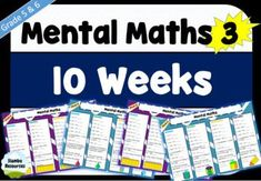 Mental Maths 3 is a resource that has a variety of mathematical concepts that will challenge your students! It's a great resource for homework or daily warm ups. The concepts are the same for 5 weeks to ensure students get that important repetition, and then they're switched up. The mathematical concepts include:- The four operations- Place value- Multiplying and dividing by 10- Chance- Shapes – 2D Kids Math Worksheets, Math Activities, Adding Decimals, Mental Maths, Prime Factorization, Order Of Operations, 5th Grade Math, Student Engagement, Financial Literacy
