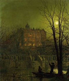 Image: John Atkinson Grimshaw - Under the moonbeams
