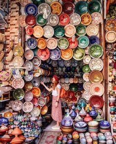 Ceramic shopping in Marrakech