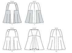 Vogue Patterns 9031 Misses' Skirt Sewing Hacks, Sewing Projects, Sewing Tips, Sewing Ideas, Vogue Sewing Patterns, Mccalls Patterns, Pattern Drafting, Rock, Materialistic