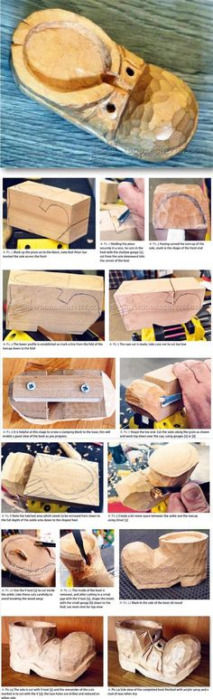 Carving Old Boot - Wood Carving Patterns and Techniques | WoodArchivist.com