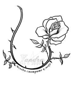 The Rose Vine -tattoo flash- by Xandra-sama on @DeviantArt