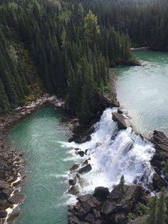 Flying high over the ten waterfalls of Monkman Creek in northern BC #explorebc…