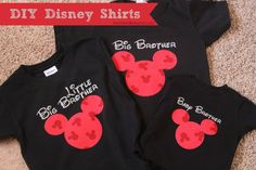 Oh my gosh!  These are so cute :)  DIY Disney Shirts
