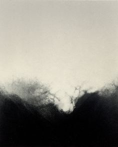 Tekla McInerney - Thereafter -Monotype prints Landscape Drawings, Watercolor Landscape, Abstract Watercolor, Abstract Landscape, Landscape Paintings, Abstract Art, Zen Painting, Black And White Painting, Monochrom