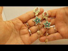 Tutorial orecchini/modulino,,STARFISH,,. . 💚💚 - YouTube Starfish, Beaded Earrings, Beading Patterns, Diy And Crafts, Jewelery, Beads, Youtube, How To Make, Ear Rings