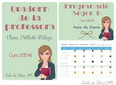 Cuaderno de la profesora y cuaderno de programación del Aula de Elena