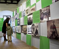 We were commissioned to design the concept for MEMOBOX - an exhibition commemorating fifty years of ethnography in Istria.The idea behind MEMOBOX was to create a space that reminded of a small Istrian white-stone village, where the visitors would have t… Graphic Designer Office, Exibition Design, Office Wall Design, Donor Wall, Visual Communication Design, Environmental Graphic Design, Design Museum, Exhibit Design, Hall Design