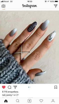 Natural Nail Care Salon Columbia Mo under Everyday Nail Care Routine although Na… Natürliche Nagelpflege Salon Columbia Mo unter täglichen. Gray Nails, Burgundy Nails, Pink Nails, Burgundy Color, Grey Nail Art, Nude Color, Black Nails, White And Silver Nails, Matte White Nails