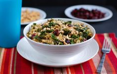 #Kale-Cranberry Pilaf | Guest Post & #Recipe from @vegan101girl