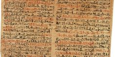 """The Ancient Egyptian Edwin Smith papyrus, the world's oldest surviving surgical document. """" Written in hieratic script in ancient Egypt around 1600 B., the text describes anatomical observations and. Ancient Artifacts, Ancient Egypt, Ancient History, Titanic History, Ancient Mysteries, Religion, Primary Sources, Medical Problems, Medical History"""