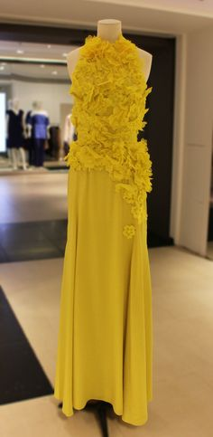This buttercup yellow @Nina Gonzalez Ricci gown has certainly brightened up our day - we simply had to share.
