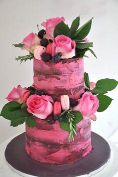 Image result for naked pink cake