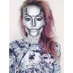 One of the looks from the 20 Halloween Makeup and Nail Art Ideas Blog Post :: as seen on SimpleNailsandBeauty.com
