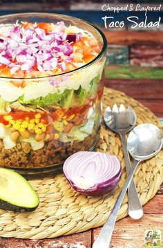 4288 best super healthy salads images on pinterest clean eating need a salad recipe to bring to a potluck try this layered chopped taco salad forumfinder Images