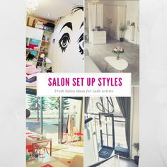 Have a look at these amazing Eyelash Extensions Salon! These ideas will definitly give you some inspiration whether home salon or store front.