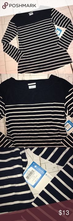 Woman's columbia shirt NEW Brand new size large women's navy blue and white Columbia Tops