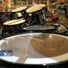Excellent photography composition of drums - an interesting, unique angle that features the drum heads instead of kit color! #cSw:) - https://www.pinterest.com/claxtonw/drummer-drumming/ - DRUMMER DRUMMING. Excellent photo of DW drums pinned via drumhead 843.