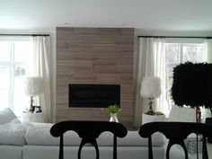 ~contemporary fireplace