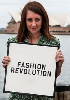 """Commemorating Rana Plaza factory complex in Bangladesh - Fashion Revolution Day: Lucy Siegle.  """"Who made your clothes?"""""""