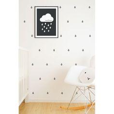 Wall Vinyl Stickers - Grey Raindrops – baby company