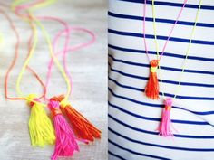 How To Make a Tassel Necklace from Neon Cord | The Sweetest Occasion