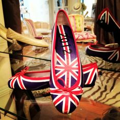 Cute Union Jack ballet flats - perfect for #Back2School #olympics