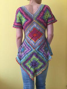 This item is unavailable Crochet Tunic Pattern, Crochet Blouse, Crochet Top, Crochet Hats, Crochet Sweaters, Crochet Zebra, Drops Design, Crochet Ripple Blanket, E Reader