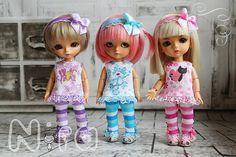 Set for pukifee & Lati Yellow. by NiraDolls on Etsy