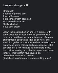 Large Mushroom, Mushroom Soup, Personal Recipe, Worcestershire Sauce, Ground Beef, Sour Cream, Stuffed Mushrooms, Let It Be