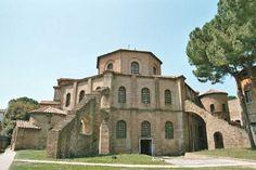 51. San Vitale. Ravenna, Italy. Early Byzantine Europe. c. 526–547 C.E. Brick, marble, and stone veneer (Image set, 1/5)