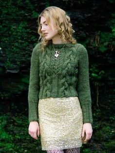 How beautiful is this? It's begging me to knit it - for myself!