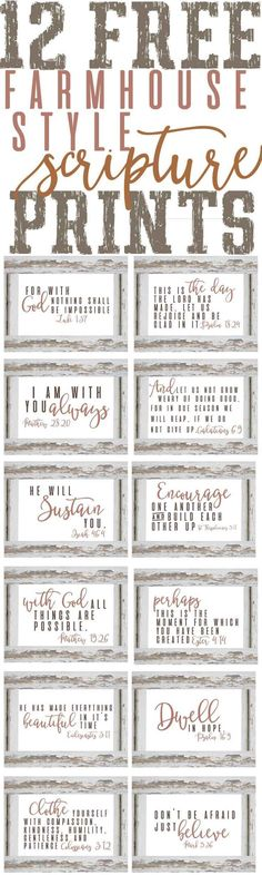 Stylish Scripture Prints ~Free Planner & Organization Printables — The Mountain View Cottage Planer Organisation, Diy Organization, Do It Yourself Inspiration, Style Inspiration, Style Ideas, Free Planner, Diy Signs, Wood Signs, Pallet Signs