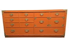 Orange  Faux-Bamboo Dresser on OneKingsLane.com