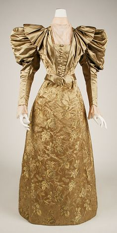 Dress Date: ca. 1895 Culture: American (probably) Medium: silk. Front