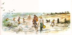 Shirley Hughes Lucy and Tom at the Seaside: walking
