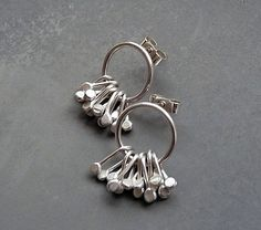 Sterling silver post earrings  Sterling silver by Kailajewellery, £38.00