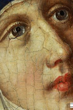The Face of Maria (Detail) from the picture of Stefan Lochner - The Last Judgement, 1435 Wallraf-Richartz Museum, Germany Close Up Art, Blessed Mother, Sacred Art, Learn To Paint, Religious Art, Our Lady, Beautiful Paintings, Art Techniques, Amazing Art