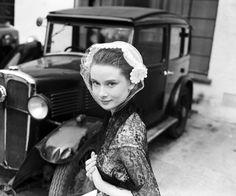 Audrey Hepburn photographed at Ealing Studios, London, 1951.