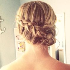 Did my sisters hair for prom!