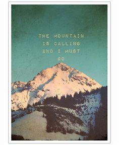Mountain is calling VON Monika Strigel now on JUNIQE!