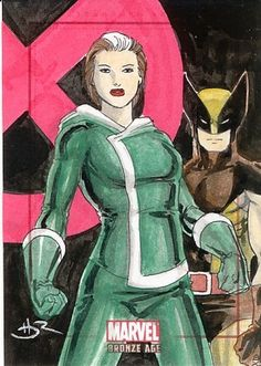 Wolverine and Rogue Sketchafex Card Daniel HDR Rittenhouse Marvel Bronze Age | eBay