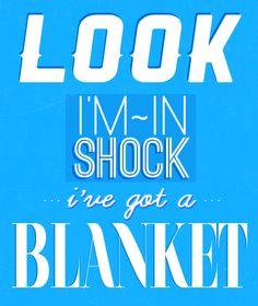 Look I'm a superhero, I've got a blanket.
