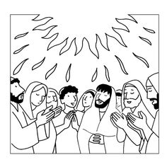 Descent Of The Holy Spirit Coloring Page