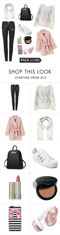 """""""pack and GO!!!"""" by pink-kim ❤ liked on Polyvore featuring Chicwish, Carven, Brioni, adidas, Ilia, Bobbi Brown Cosmetics, Harrods and Beats by Dr. Dre"""