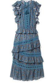 Розали взъерошила напечатанное хлопковое платье