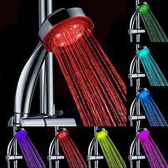 Água Produzido Cor Mudar ABS LED chuveiro de mão – BRL R$ 49,49
