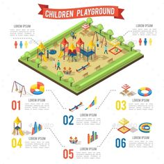 Isometric Playground Infographic Concept - Miscellaneous Vectors Download here : https://graphicriver.net/item/isometric-playground-infographic-concept/19634659?s_rank=25&ref=Al-fatih
